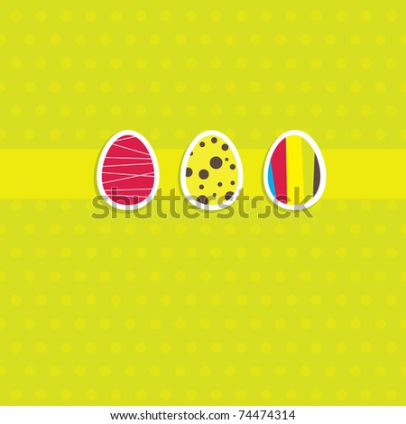 Background with Easter card and egg. Vector illustration - stock vector