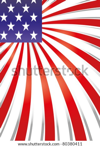 Background with elements of USA flag, vector illustration - stock vector