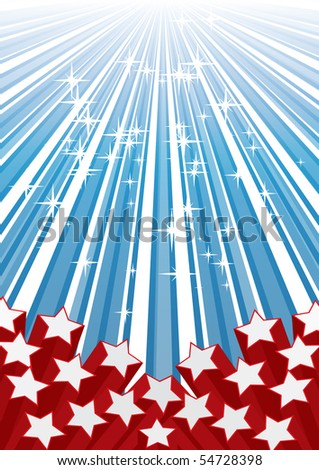 Background with elements of USA flag, vector illustration eps 10.0 - stock vector
