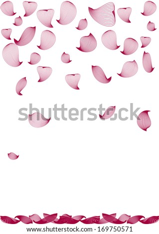 Background with falling petals - stock vector