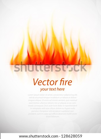 Background with fire - stock vector