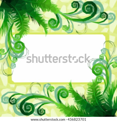Background with Floral Low Poly Pattern
