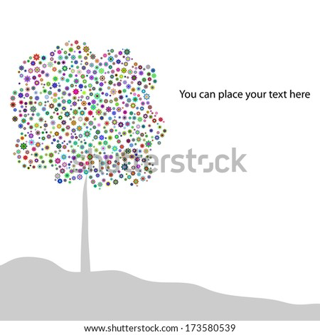 background with flower tree for your text