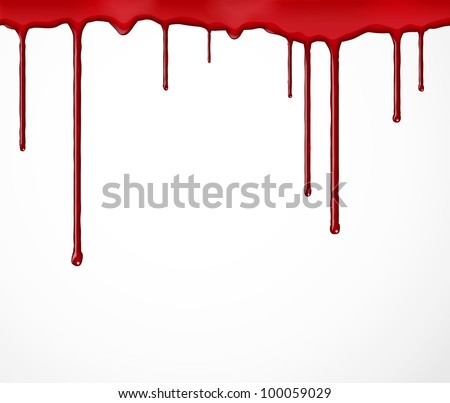 Background with flowing blood. Eps 10 - stock vector