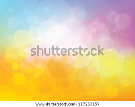 background with fresh colors and fun childhood - stock vector