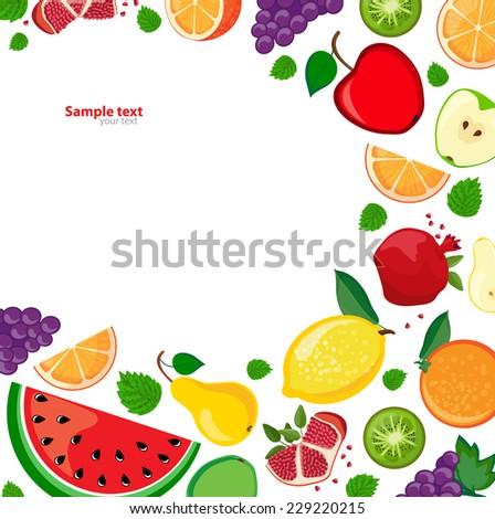 background with fruits and place for your text