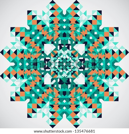 Background with geometric shapes. Vector illustration. - stock vector