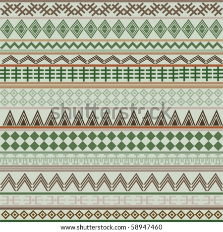 Background with geometrical shapes in brown and green tones - stock vector