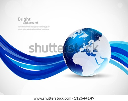 Background with globe - stock vector