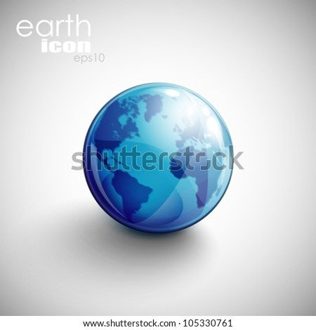 background with globe icon - stock vector