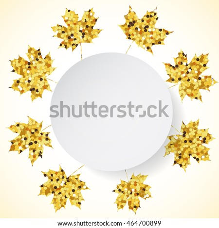 Background with golden maple leaves