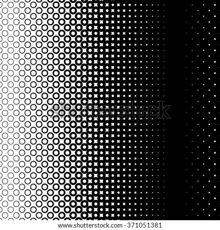 Background with gradient of monochrome circles grid - stock vector