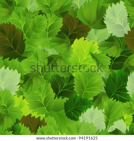 Background with green leaves. EPS 10 - stock vector