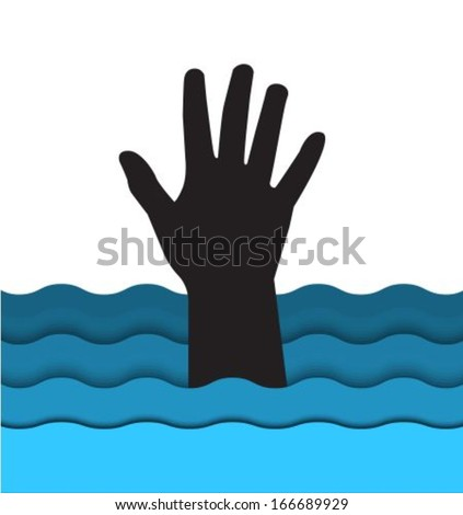 Background with hand - stock vector