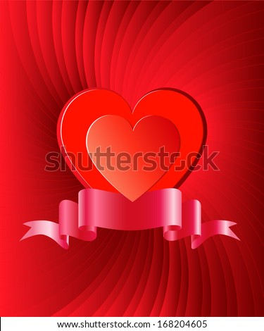 Background with heart in the center by St. Valentine's Day,vector eps 10  - stock vector