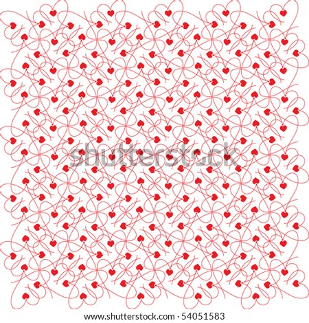 background with hearts - stock vector