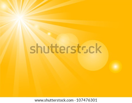 background with hot summer sun - stock vector