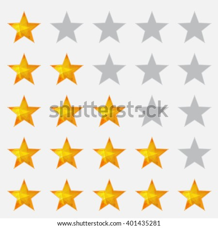 Background with isolated orange and gray stars. eps10