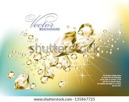 background with jewels - stock vector