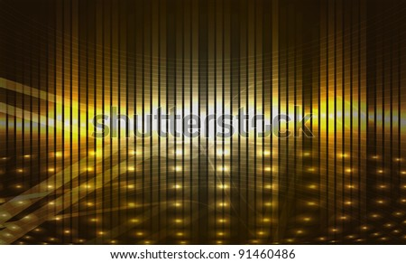background with led display background and light - stock vector