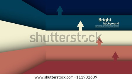 Background with lines and arrows - stock vector