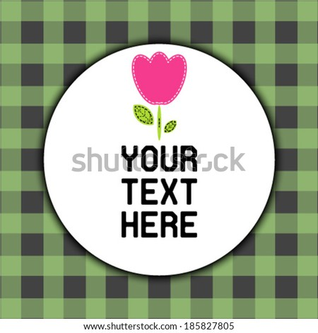 Background with lovely flower - stock vector
