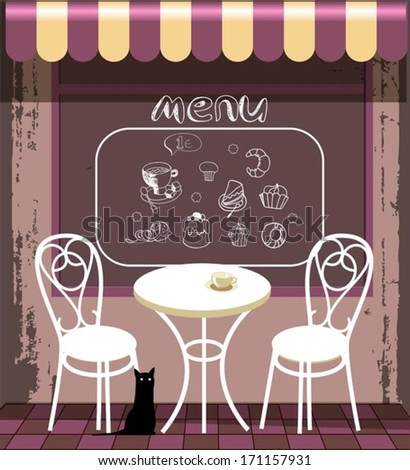 background with menu - stock vector