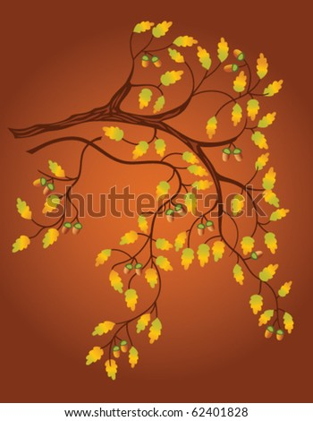 background with oak branch
