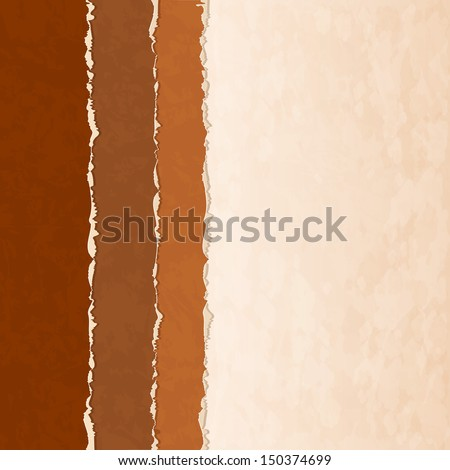 Background with old torn paper - stock vector