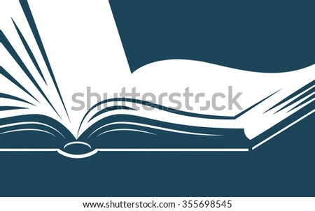 background with open book for your text