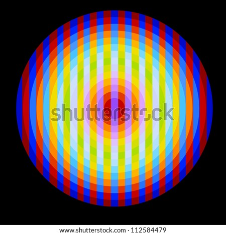 Background with optical illusion - stock vector