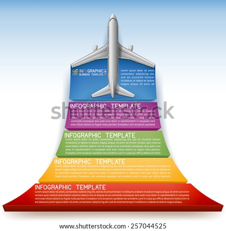Background with option banner with plane, EPS 10 - stock vector
