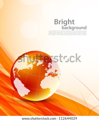 Background with orange globes - stock vector