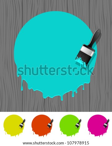 Background with paintbrush. Vector illustration.	 - stock vector