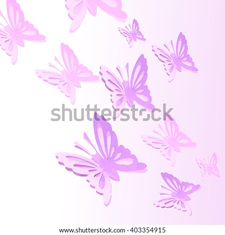Background with paper butterflies. Vector