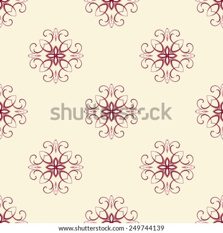 Background with pattern. Vector illustration. Seamless wallpaper - stock vector