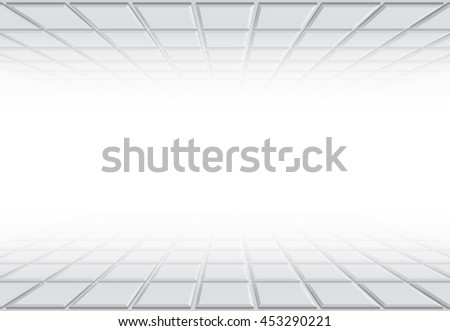 Background with perspective squares