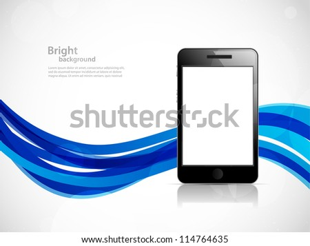 Background with phone - stock vector