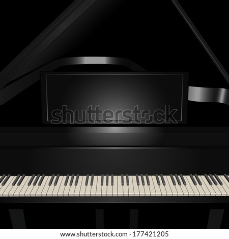 Background with pianoforte. Vector illustration. - stock vector