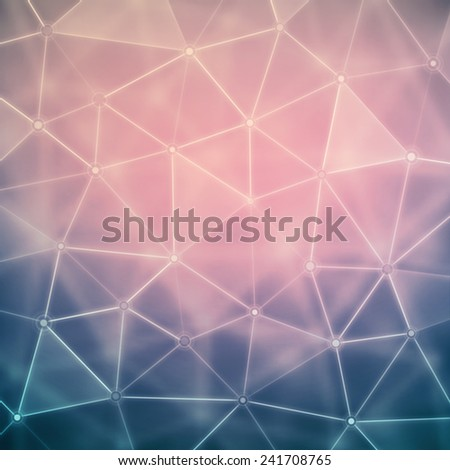 Background with polygons, eps 10 - stock vector