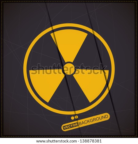 Background with radiation symbol - stock vector