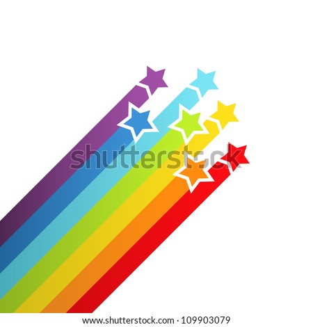 Seamless Space Background Rainbow Stars Stock Im...