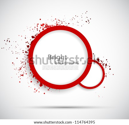 Background with red circles - stock vector