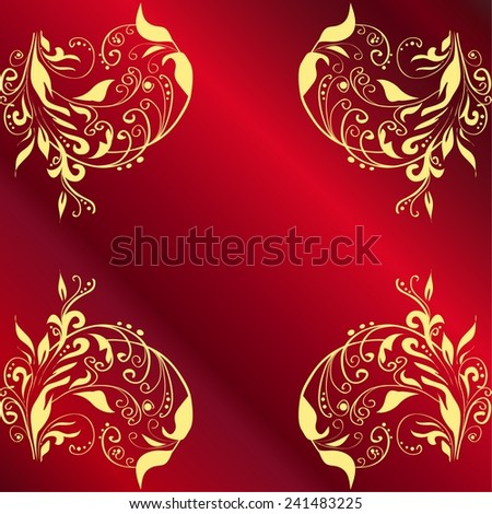 Background with red gradient. Vector illustration.