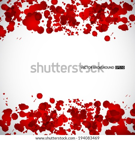 Background with red splashes. EPS10 vector