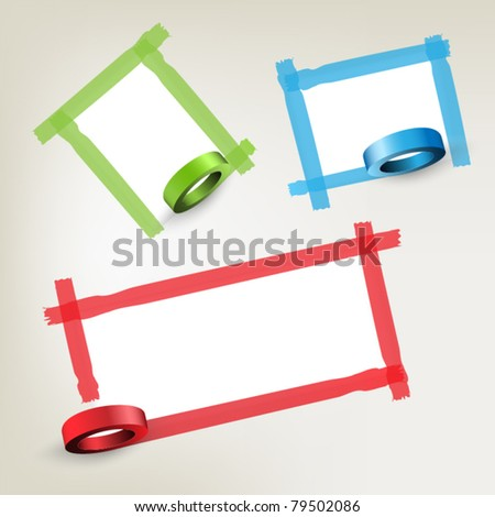 Background with red tape - stock vector