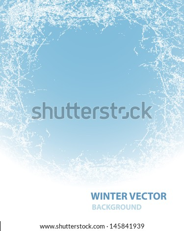 Background  with rime for winter holiday   - stock vector