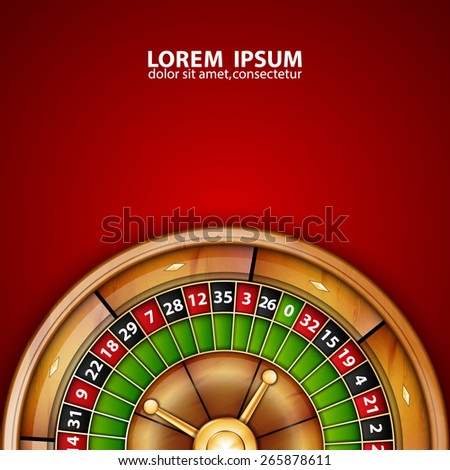 Background with roulette. EPS10 vector - stock vector