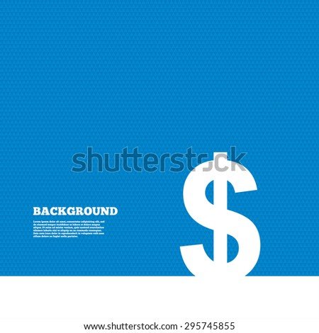Background with seamless pattern. Dollars sign icon. USD currency symbol. Money label. Triangles texture. Vector - stock vector