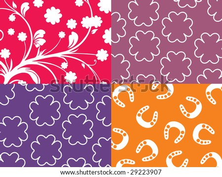 background with shamrock and creative design - stock vector
